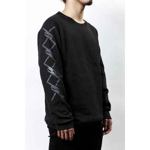 【PassCode】CREW NECK SWEAT (BLACK)『CHAIN』 M