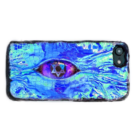 【Devilish】Magical eye phone case(#IPHONE 6)blue