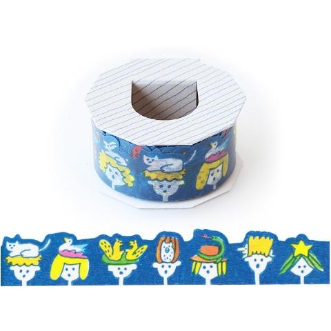 【AIUEO】マスキングテープ 型抜き(animal head)