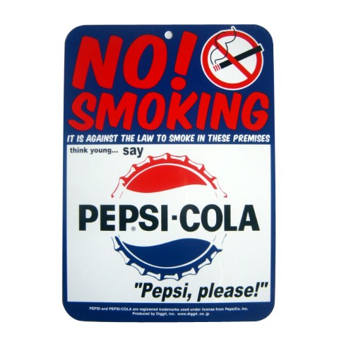【サインプレート】PEPSI SIGN BOARD/NO SMOKING