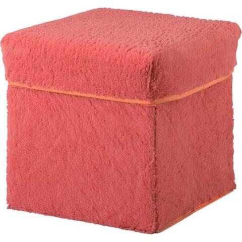 【椅子&収納】ファブリックBOXスツール 【ピンク】