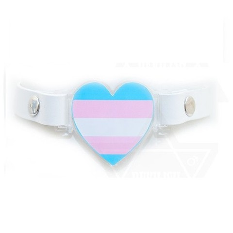 【Devilish】Transgender love choker(WHITE)