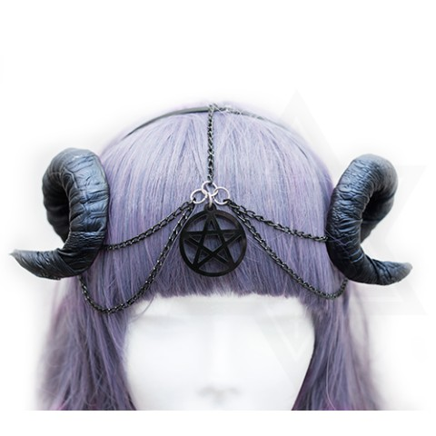 【Devilish】Pentagram horns hairband ✡ダークファンタジー✡