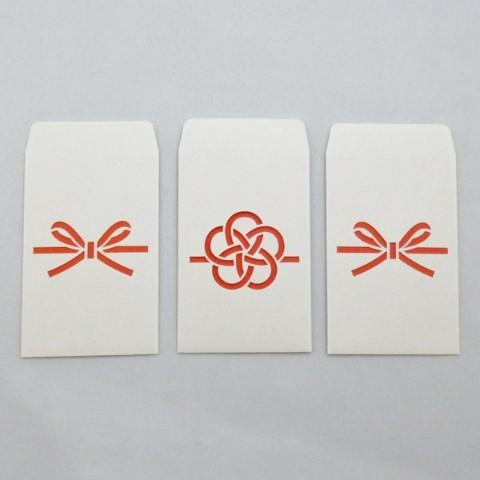【cobato】切り絵のぽち袋&メッセージカード「水引(梅、花結び)」