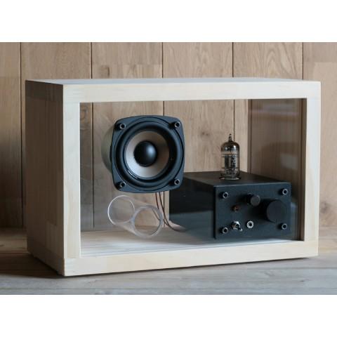 【実験的スピーカー】acrylic speaker pine