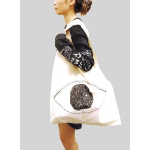 EYE BIG SHOPPING BAG (WHITE)