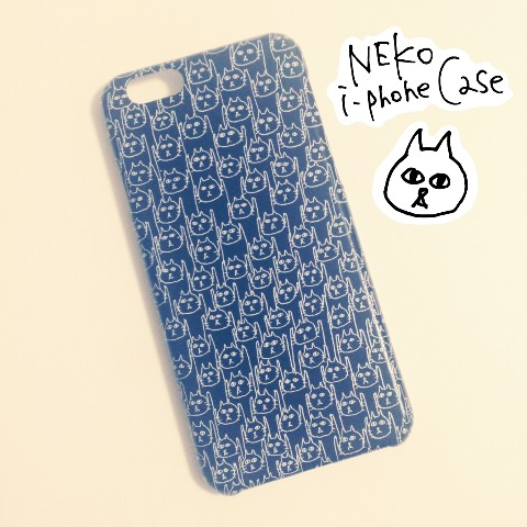 【フクモトエミ】【iPhone6/6s】黒いネコうじゃケース