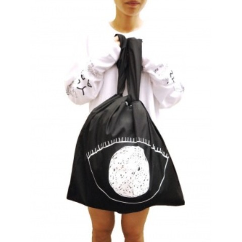 EYE BIG SHOPPING BAG (BLACK)
