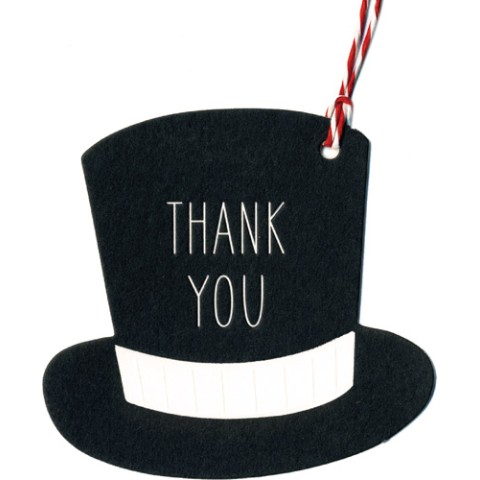 【気持ちを伝えよう!】Greeting Tag/ Thank You Hat BK