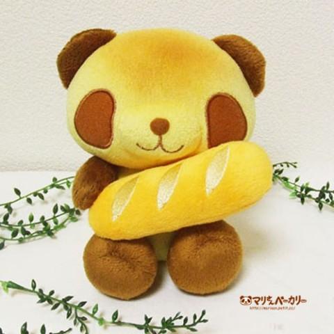 【※お一人様1点まで】【マリさんベーカリー】焼きたてパンダのぬいぐるみ(モカちゃん)