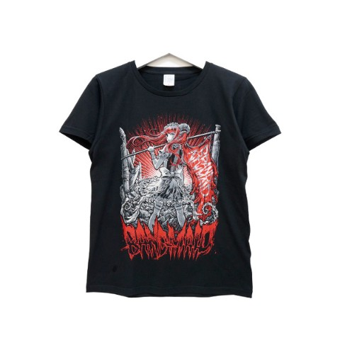 BAND-MAID Tシャツ KagaMI Design B Red / Gray L