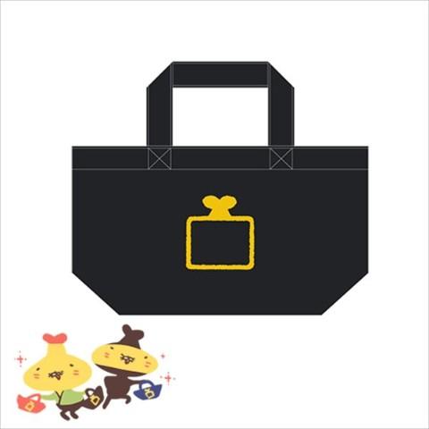 【テンプラニンジャ&サムライ】かくれみのミニトート(黒)