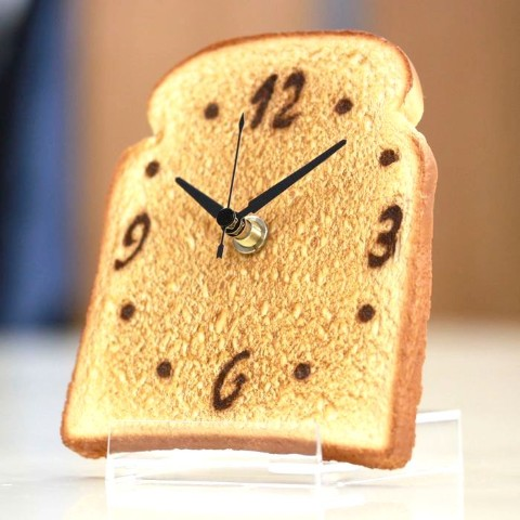 パン好きの山型食パント−スト時計【ヴィレヴァン通販限定】【プロの食品サンプル職人製作】