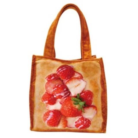 まるでパンみたいなランチトートバッグ いちごみるく?