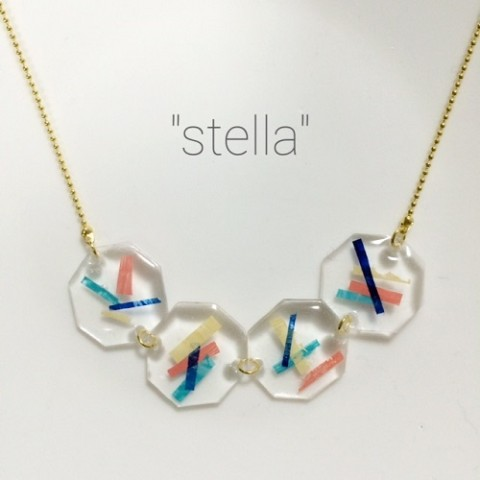 "【""stella""】clearネックレスno.2"