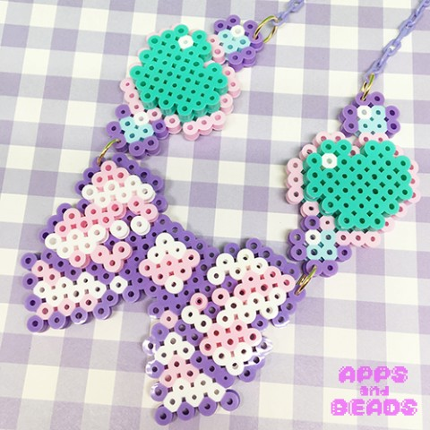 【Apps and Beads】りぼんハートネックレス(王道ver.)