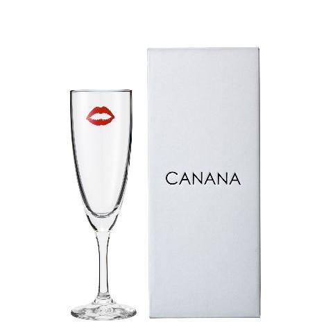【CANANA】フルートグラス LIP柄