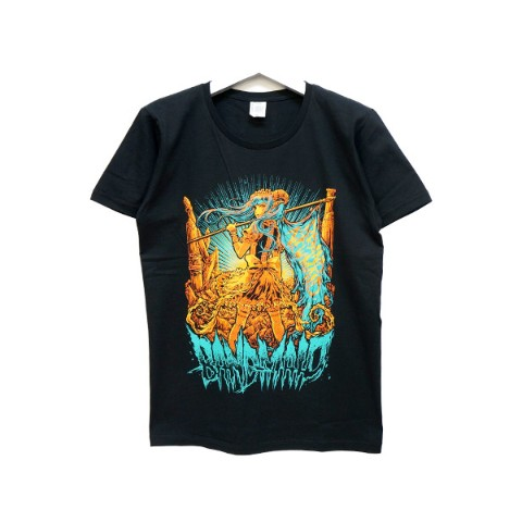 BAND-MAID Tシャツ KagaMI Design B Green / Orange S
