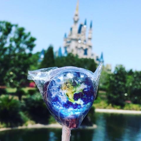 【惑星キャンディ】Planet Lollipop EARTH(Cotton Candy)
