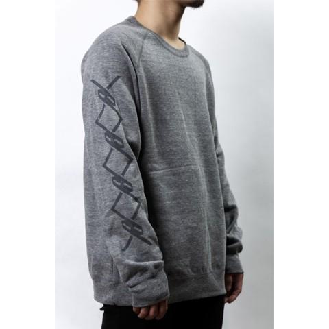 【PassCode】CREW NECK SWEAT (GRAY)『CHAIN』 XL